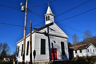 National Register of Historic Places listings in Iron County, Missouri - Image: Immanuel Evangelical Lutheran Church, Pilot Knob, MO