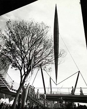 Herbert Morrison - The 300-foot tall Skylon at the Festival of Britain, 1951