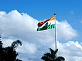 Indian National Flag at Kempegowda International Airport, Bengaluru.jpg
