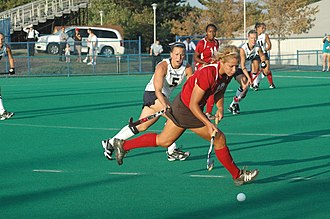 Indiana Hoosiers field hockey - The 2010 Indiana field hockey team in action at Penn State