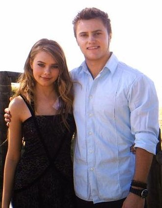 Ric Dalby - Indiana Evans and Mark Furze (pictured) play on-screen lovers Matilda and Ric.