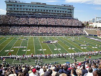 InfoCision Stadium–Summa Field - View of InfoCision Stadium press tower
