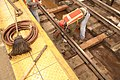 Installing tie blocks and cement on A line (11294073115).jpg