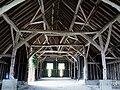 Interior of Tithe barn at Upwaltham - geograph.org.uk - 1602007.jpg