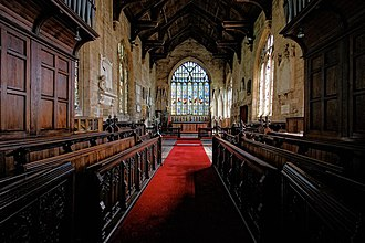 St Denys' Church, Sleaford - The chancel and choir, looking eastwards