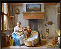 Interior scene, Willem Joseph Lacquy, 1700s, oil on wood - Villa Vauban - Luxembourg City - DSC06616.JPG