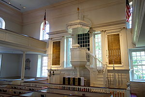 Christ Church (Alexandria, Virginia) - Inside front of the church