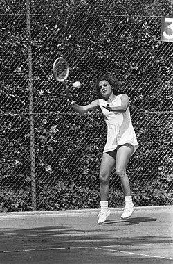 Internationale tenniskampioenschappen bij Melkhuisje te Hilversum, Evonne Goolag, Bestanddeelnr 924-7659.jpg