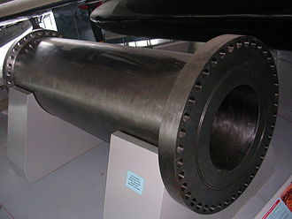 Gerald Bull - A section of the Iraqi supergun at Imperial War Museum Duxford