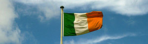 Flag of Ireland - The Irish flag is always flown with the green at the hoist