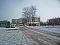 Irkutsk. February 2013. Barguzin, regional court, bus stop Volga, Diagnostic Center. - panoramio.jpg