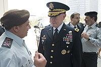 Israeli Chief of Defense Lt Gen Gadi Eisenkot talks with Gen. Martin E. Dempsey, chairman of the Joint Chiefs of Staff.jpg