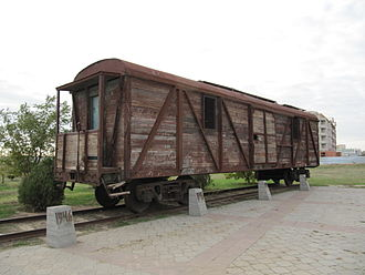 Deportation of the Kalmyks - Cattle wagons used for the Soviet deportations