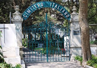 Italian immigration to Mexico - Entrance to the Italian section of the Panteón de Dolores in Mexico City