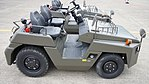 JGSDF 2.5t class aircraft towing tractor(Toyota L&F 2TG25) right side top view at Camp Akeno November 4, 2017.jpg