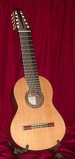 Classical guitar with additional strings