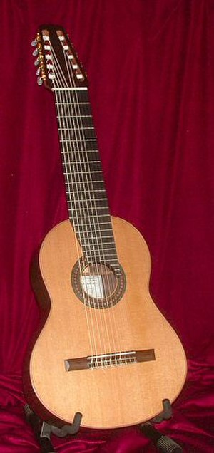 Ten-string classical guitar of Yepes - Image: JME ten string guitar
