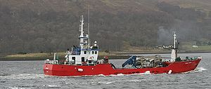 Marine Harvest - Aqua-Boy, a Norwegian live fish carrier used to service the Marine Harvest fish farms on the West coast of Scotland