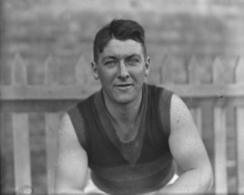 "A portrait of John Frederick Dawes ""Jack"" McDiarmid, who played 183 games for the West Perth and Claremont Football Clubs."