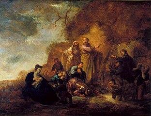 Moisés no Rochedo de Horeb