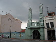 Jamae Chulia Mosque at South Bridge Road in Chinatown, Singapore.