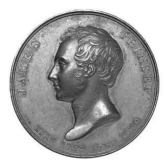James Prinsep - James Prinsep in medal cast c.1840 from the National Portrait Gallery