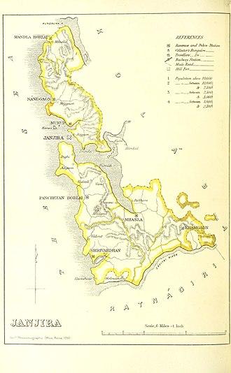 Janjira State - Janjira 1896
