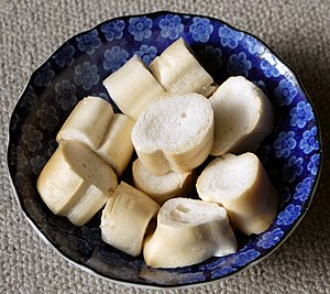 "Wheat gluten (food) - Japanese dry baked wheat gluten ""Fu"" (Yaki-Fu, 焼き麩)  looks like bread"