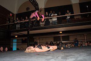 Aliyah (wrestler) - Aliyah executing the Arabian Night on Leah Von Dutch