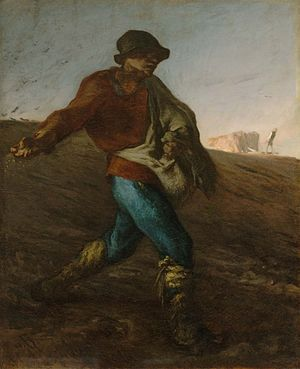 Jean-François Millet - The Sower, 1850. Museum of Fine Arts, Boston.