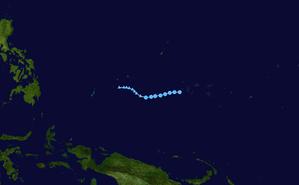 1960 Pacific typhoon season - Image: Jean 1960 track
