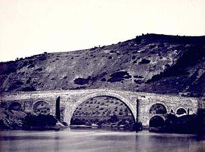 Puente Ariza antes de ser inundado (1867).
