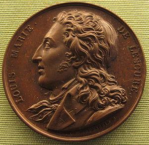 Jean-Pierre Casimir de Marcassus, Baron de Puymaurin - medallion depicting Louis Marie de Lescure by Jean-Pierre Casimir de Marcassus, 1824