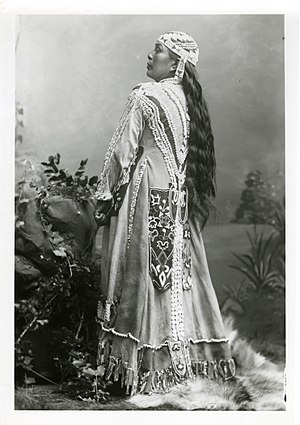 Takelma - Jennie, a Rogue River Takelma woman, who crafted the dress worn in this iconic Peter Britt portrait