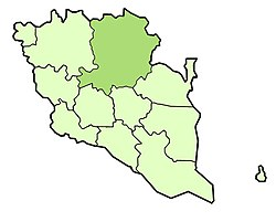 Location of Jerantut District in Pahang