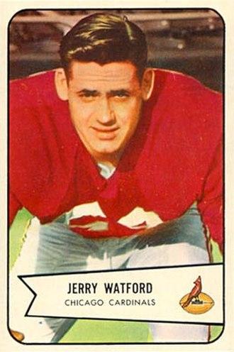 Jerry Watford - Watford on a 1954 Bowman football card