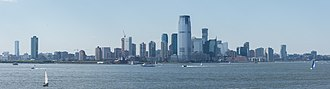 Jersey City, New Jersey - View of Jersey City from Governors Island, Manhattan