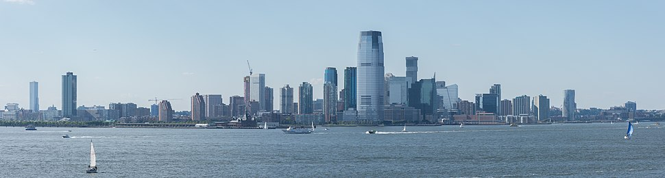 View of Jersey City from Governors Island, Manhattan