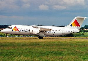 Flybe - A Jersey European BAe 146 wearing the 1991-2000 livery