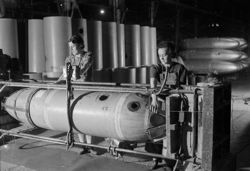 Jettison Petrol Tanks- the Production of Jettison Tanks For USE by the United States Army Air Force and Royal Air Force, Britain, 1944 D23460
