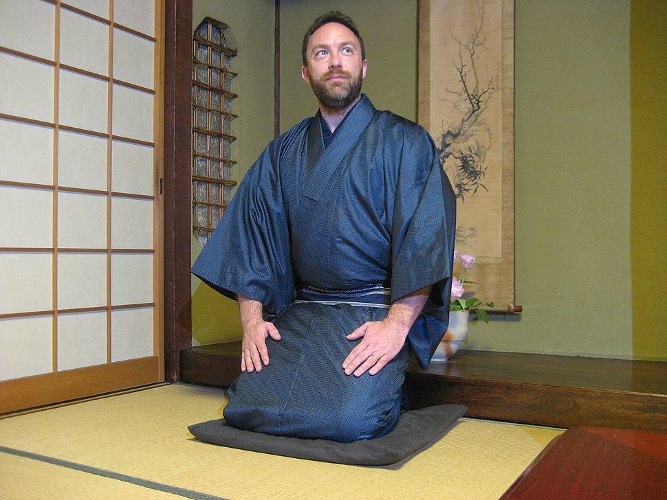 JimmyWales wearing Kimono