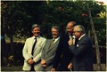 Jimmy Carter and leaders of Western Europe, Helmut Schmidt, Giscard d'Estaing and James Callaghan pose while meeting... - NARA - 182944.tif
