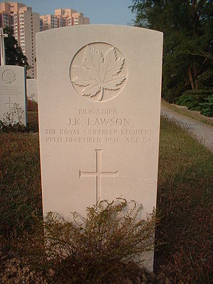 John K. Lawson - The headstone of Brigadier J.K. Lawson.