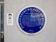 picture of blue plaque