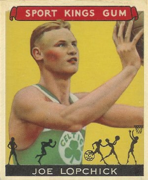 Joe Lapchick - Joe Lapchick's misspelled 1933 Goudey Sport Kings basketball card.