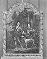Johannes (I of II) Voorhout - Schoorsteenstuk voorstellende twee jongens, jachthond en valk - KA 2923.3 - Amsterdam Museum.jpg