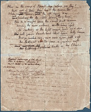 To Autumn - Image: John Keats To Autumn Manuscript 2 unrestored