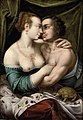 Joos van Winghe (Attr) - An amorous couple in an interior with a tortoise.jpg