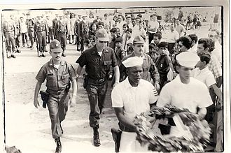 Military of Honduras - Then Honduran army Major Jorge Colindres Reyes marching through the city.