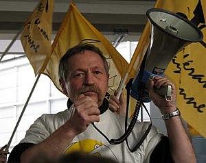 José Bové - José Bové at an anti-GMO protest in March 2006